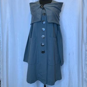 Neon Buddha muted grey/blue button down jacket